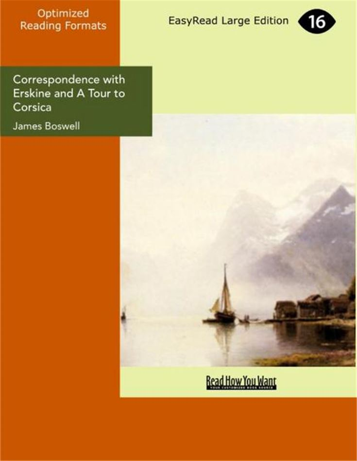Correspondence with Erskine and A Tour to Corsica
