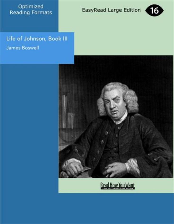 Life of Johnson, Book III