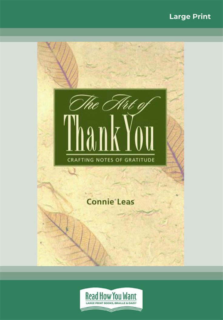 The Art of Thank-You