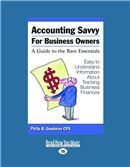 Cover Image: Accounting Savvy for Business Owners (Large Print)