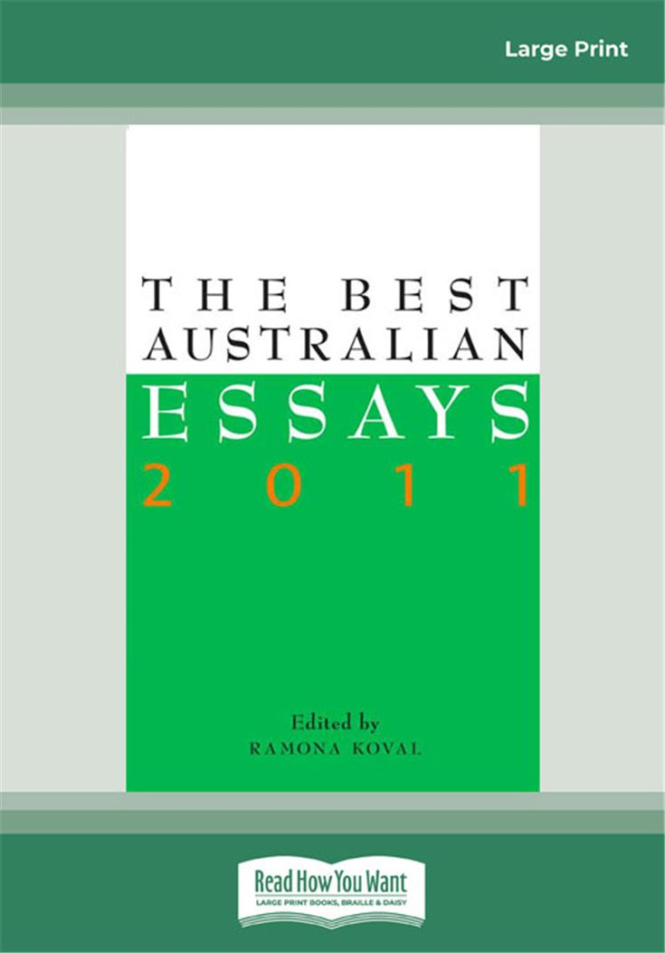 The Best Australian Essays 2011