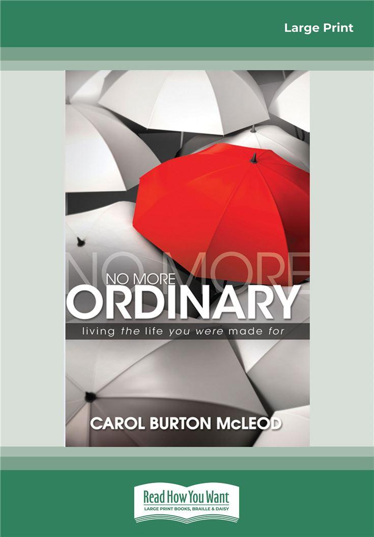 No More Ordinary
