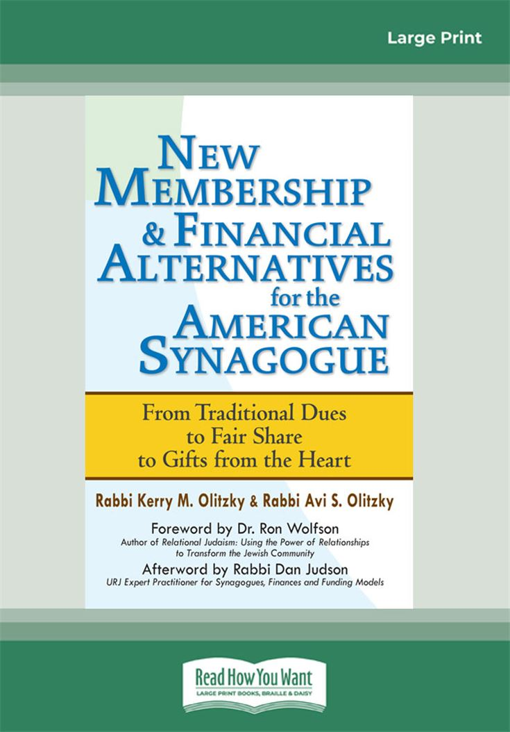 New Membership & Financial Alternatives for the American Synagogue