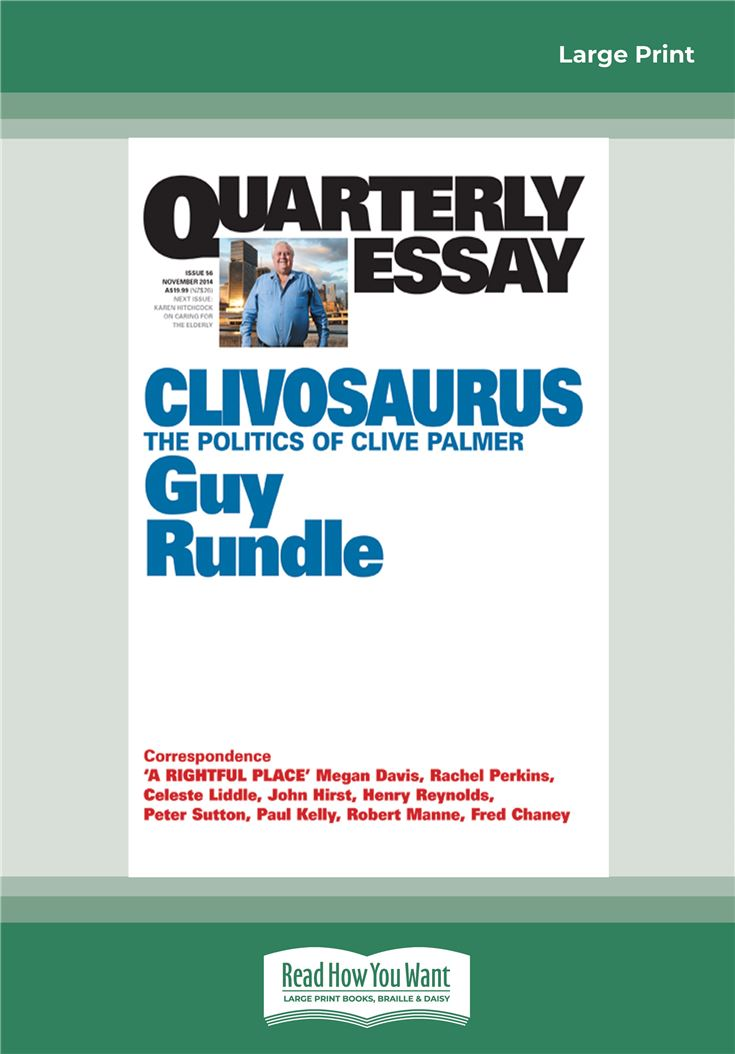 Quarterly Essay 56: Clivosaurus