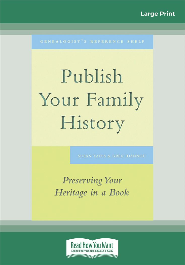 Publish Your Family History