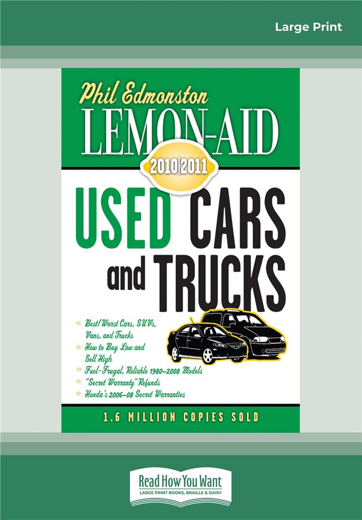 Lemon-Aid Used Cars and Trucks 2010-2011