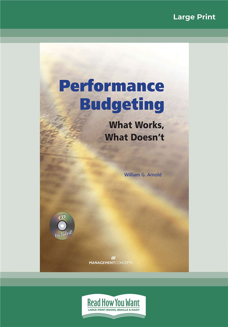 Performance Budgeting (with CD)