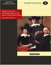 Opinion as to the Constitutionality of the Bank of the United States