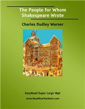 The People for Whom Shakespeare Wrote