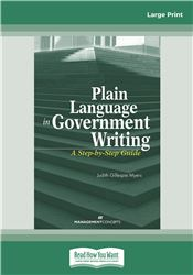 Plain Language in Government Writing