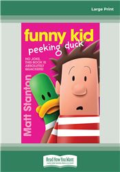 Funny Kid Peeking Duck