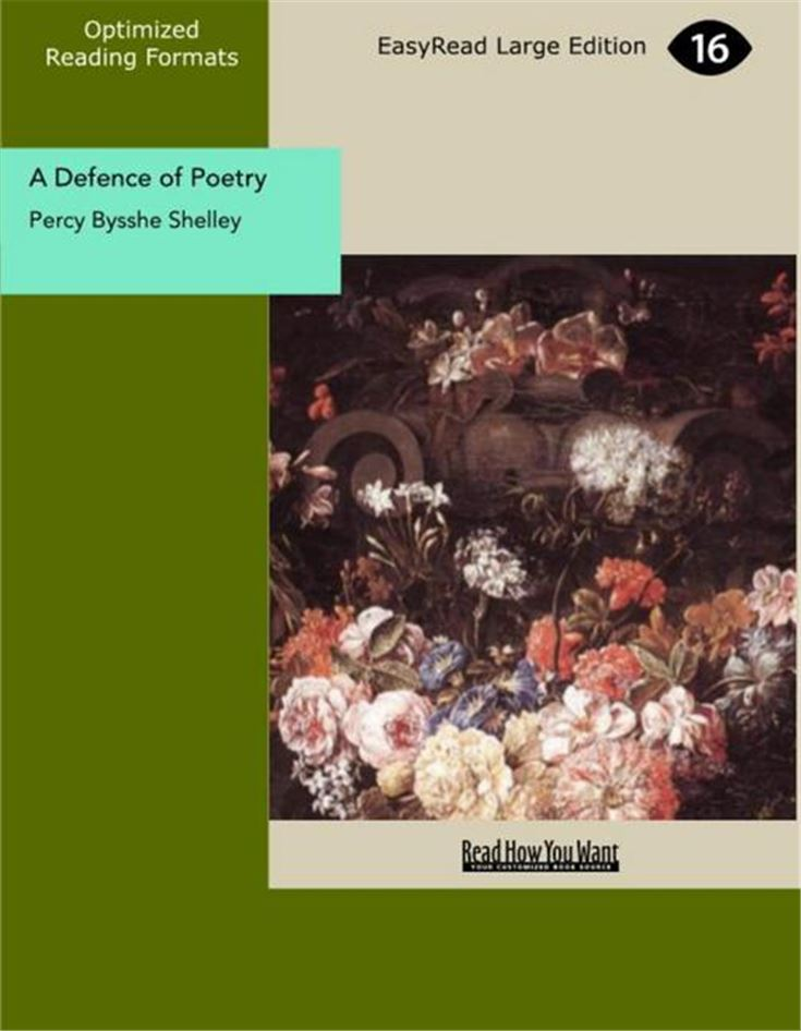 A Defence of Poetry An Essay