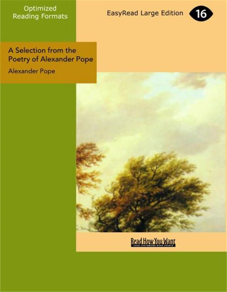 A Selection from the Poetry of Alexander Pope