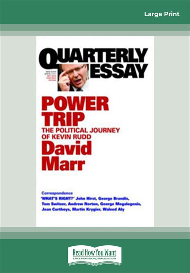 Quarterly Essay 38