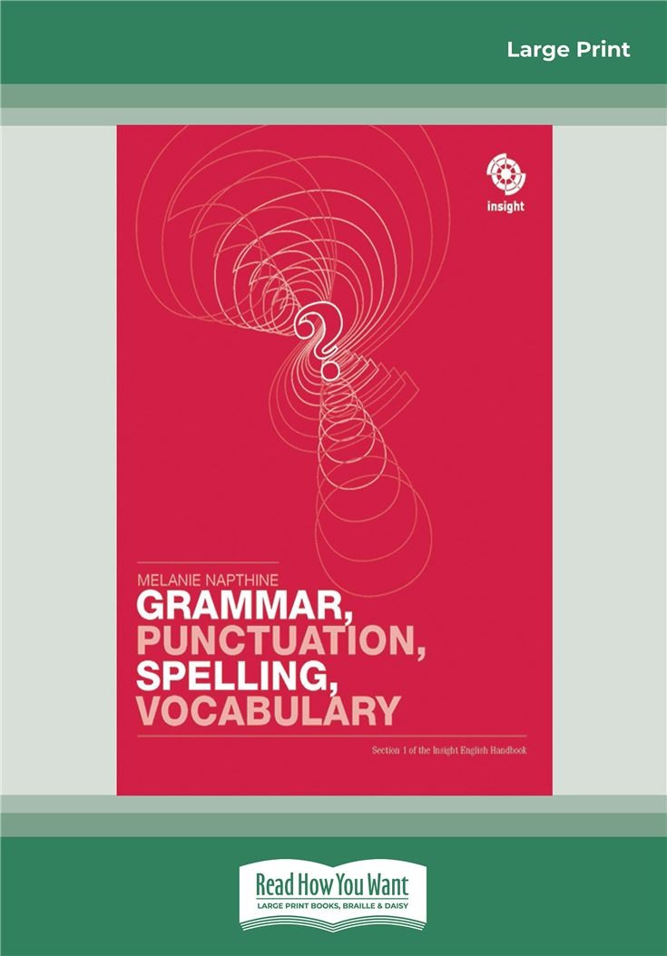 Grammar, Punctuation, Spelling, Vocabulary