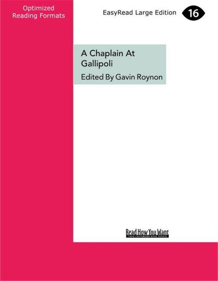 A Chaplain at Gallipoli