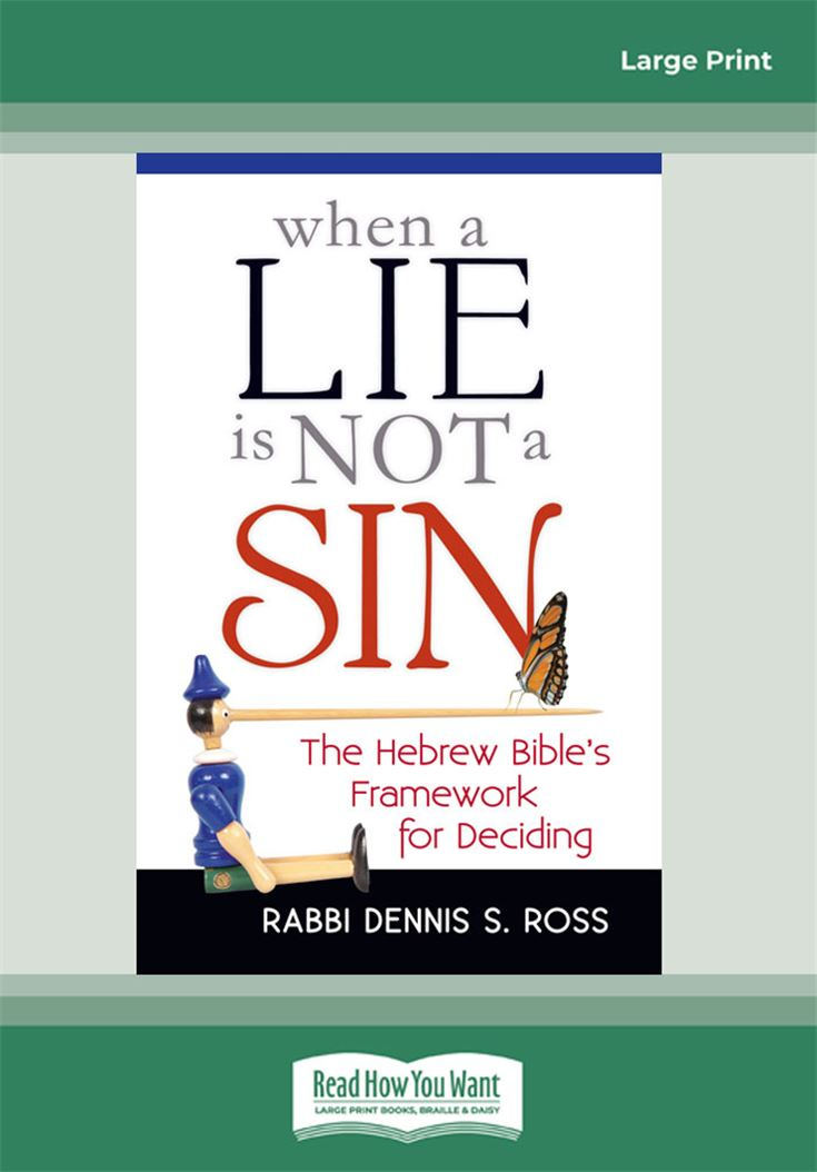 When a Lie is Not a Sin