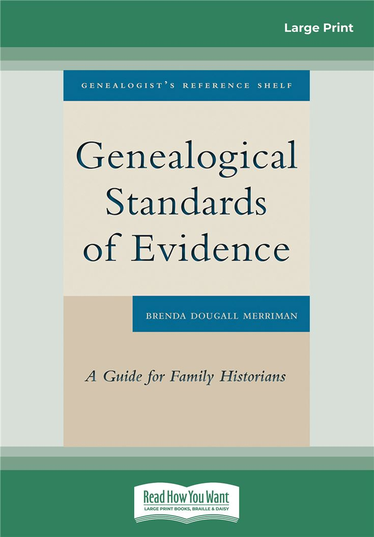 Genealogical Standards of Evidence